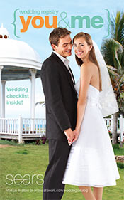 Picture of Sears wedding registry from Sears Wedding Catalog catalog