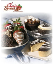 Picture of chocolate covered strawberries from Shari's Berries catalog