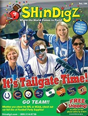 Picture of childrens party supplies and decorations from ShindigZ by Stumps catalog