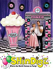 Image of 1950s theme party from ShindigZ by Stumps catalog