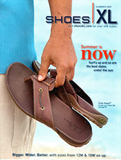 Picture of wide size shoes from Shoes XL catalog
