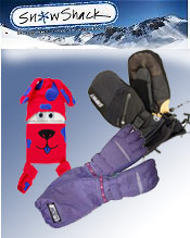 Image of gloves for kids from Snow Shack catalog