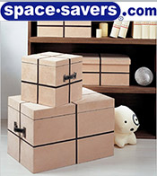 Image of canvas storage bins from Space Savers catalog