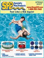 Picture of pool products and equipment from Specialty Pool Products catalog