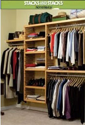Image of closet shelf organizer from Stacks and Stacks  catalog