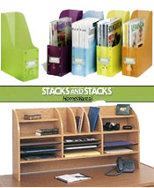 Image of desk top organizer from Stacks and Stacks  catalog