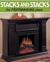 Image of ventless gel fuel fireplaces from Stacks and Stacks  catalog