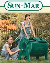 Picture of garden composters from Sun-Mar catalog