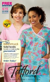 Picture of nursing uniforms from Tafford Uniforms catalog