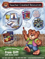 Picture of teaching and classroom supplies from Teacher Created Resources catalog