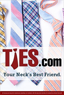 Picture of mens neckties from Ties.com catalog