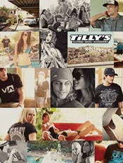 Picture of trendy juniors clothing from Tilly's catalog