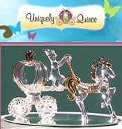 Image of supplies for quinceanera from Uniquely Quince catalog