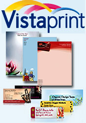 Picture of business brochures printing from  Vistaprint catalog