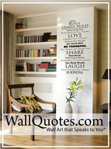 Picture of vinyl wall quotes from WallQuotes catalog