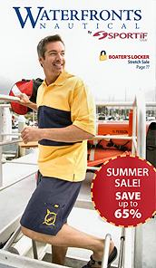 Image of sportif cargo shorts from Men's Nautical Clothing catalog