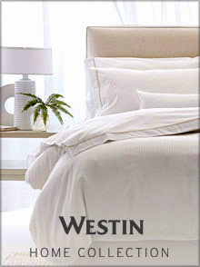 Picture of hotel luxury linens from Westin at Home Store catalog
