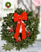 Picture of decorative wreaths from Whitney Wreaths catalog