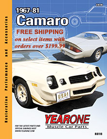 Muscle car parts from the Year One catalog