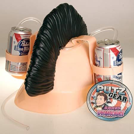 Mohawk beer drinking hat