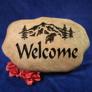 engraved stones from Rock- It Creations