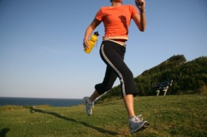 A spring fitness tip is to start walking and work up to a run