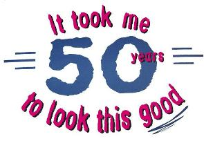 A list of the top ten 50th birthday jokes