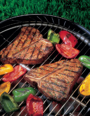 Grilling healthy food is one of the top ten ways to get in shape for spring sports