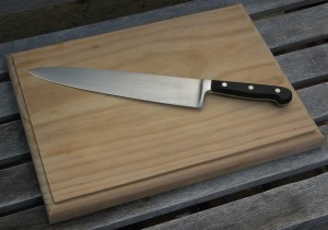 A gourmet chopping block is a mother's day gift for cooking moms