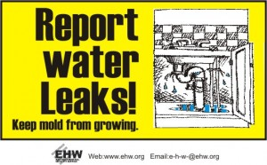 Reporting water leaks helps conserve water
