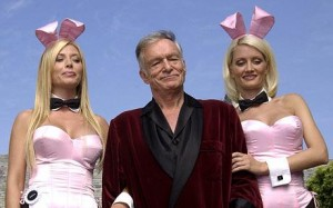 Hugh Hefner has an affinity for bunnies although not Easter bunnies.