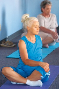 A health benefit of yoga is an increased threshold of pain.