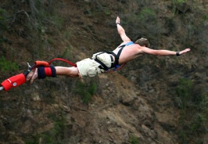 Do something unexpected like bungee jumping to cheer you up