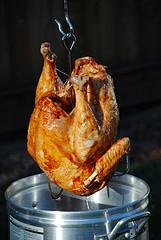 Deep fried turkey is a crowd-pleasing barbeque menu item