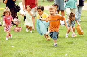 Easter egg hunts are a wonderful event to hold for young children.