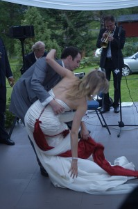 Spills, falls and trips are serious wedding mishaps