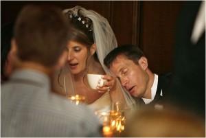 The groom fainting is a wedding mishap