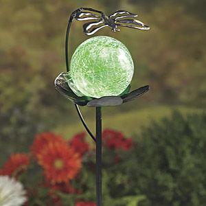 A solar garden globe is a magical garden accessory to give