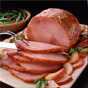 Baked ham is part of a traditional Easter dinner.