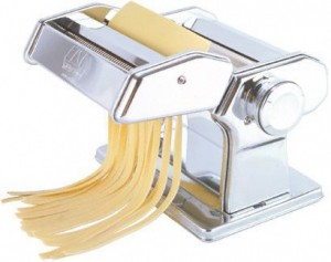 A pasta machine is essential in an Italian kitchen and fun for all