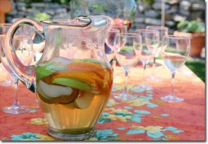 A pitcher of sangria is a refreshing beverage for your backyard cookout