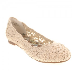 Textures like lace are a spring shoe fashion trend