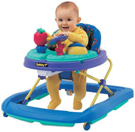 Baby walkers are one of the top ten dangers in your home