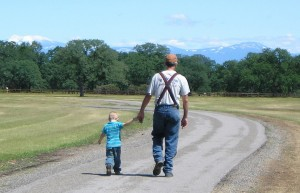 Walking is one of the top ten ways to get in touch with nature