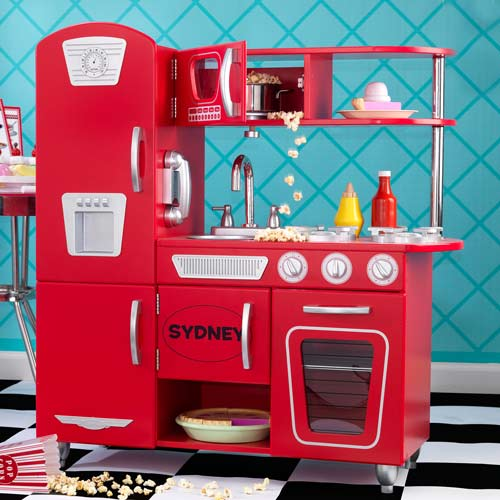 Red pretend kitchen