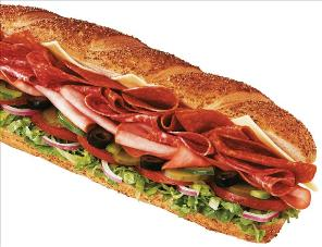One of the top ten submarine sandwich recipes