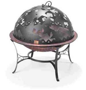 fire pit with star lid