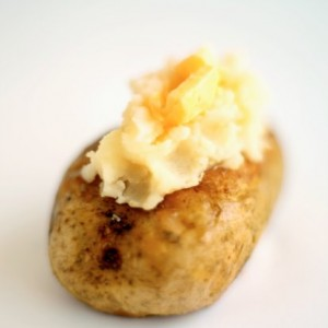 American side dishes baked potato with butter