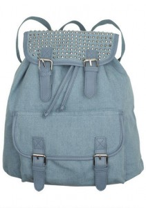 demin backpack from delias