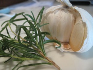 basic cooking skills rosemary and garlic